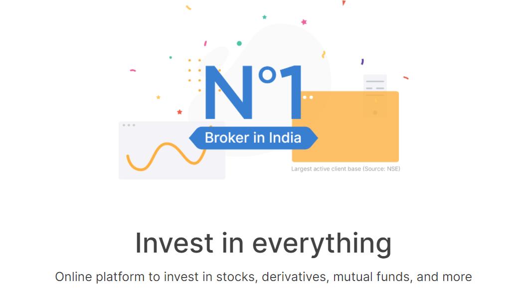 Zerodha homepage